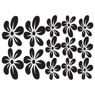 Wandtattoo Blüten-Set 6