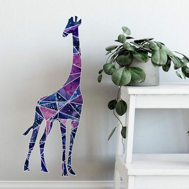 Wandtattoo Polygon Galaxie Giraffe
