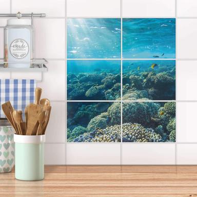 Fliesenfolie quer - Underwater World