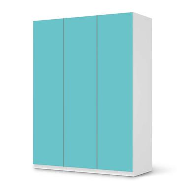 Folie IKEA Pax Schrank 201cm Höhe - 3 Türen - Türkisgrün Light- Bild 1