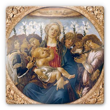 Glasbild Botticelli - Maria mit dem Kind und singenden Engeln