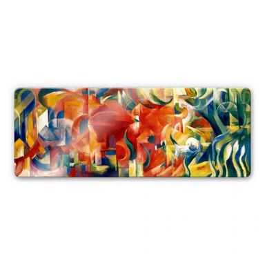 Glasbild Marc - Spielende Formen - Panorama