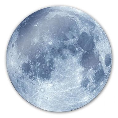 Glasbild Moon Complete - rund