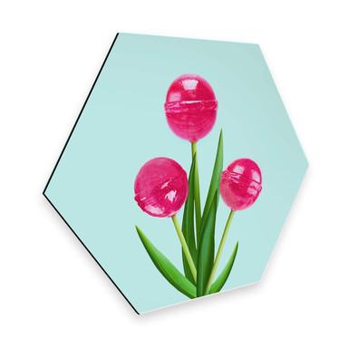 Hexagon - Alu-Dibond Fuentes - Lollipop Tulips