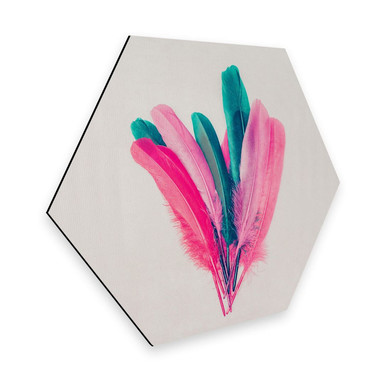 Hexagon - Alu-Dibond Kubistika - Feder Bouquet