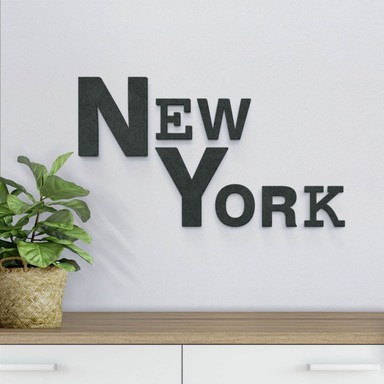 MDF-Holzbuchstaben New York mixed