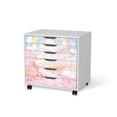 Möbelfolie IKEA Alex Rollcontainer 6 Schubladen - Candyland