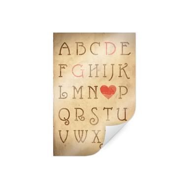 Poster & Wunschtext Love Alphabet