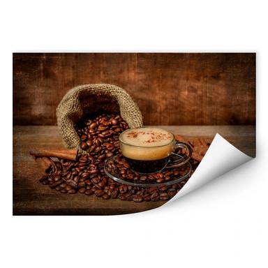 Wallprint Perfoncio - Kaffee rustikal