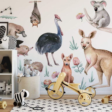 Wandtattoo Kvilis - Tierfreunde Australien (19-teilig)