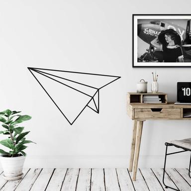 Wandtattoo Papierflieger