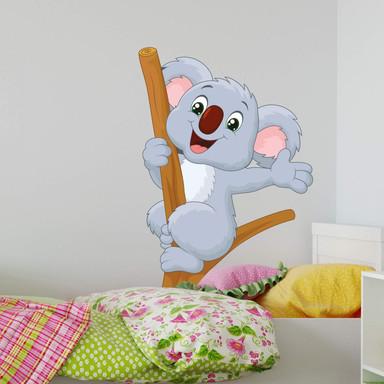 Wandtattoo - Winkender Koala im Baum