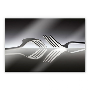 Acrylglasbild De Kogel - Silverware Reflection