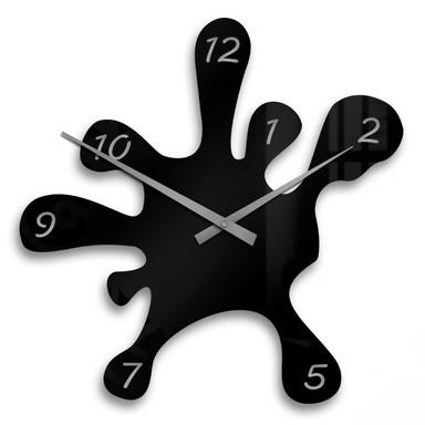 Acrylglasbild Farbklecks Uhr