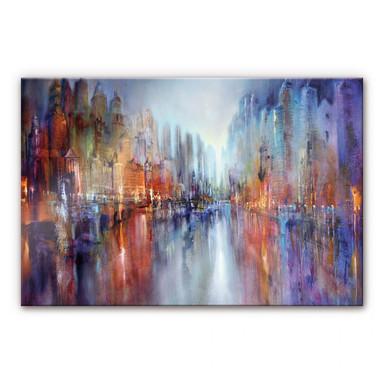 Acrylglasbild Schmucker - Stadt am Fluss
