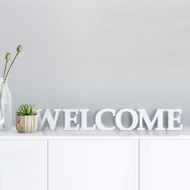 Dekobuchstaben 3D Welcome