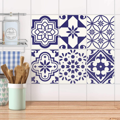 Fliesenaufkleber Set rechteckig - Azulejo Love