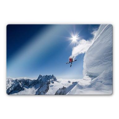 Glasbild Tristan - Wintersport