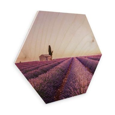 Hexagon - Holz Birke-Furnier - Lavendula
