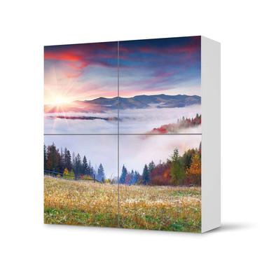 Klebefolie IKEA Besta Schrank 4 Türen - Herbstwald- Bild 1
