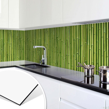 Küchenrückwand - Alu-Dibond - Bambus Panorama
