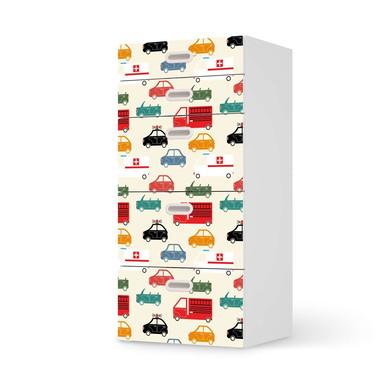 Möbel Klebefolie IKEA Stuva / Fritids Kommode - 5 Schubladen - Cars