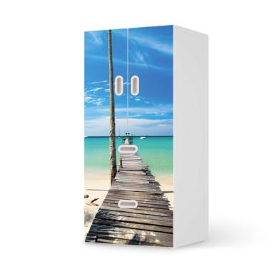 Möbelfolie IKEA Stuva / Fritids - 2 Schubladen und 2 kleine Türen - Blue Water
