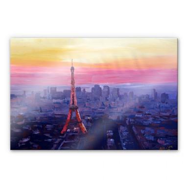 Acrylglasbild Bleichner - Pariser Eiffelturm in der Abenddämmerung