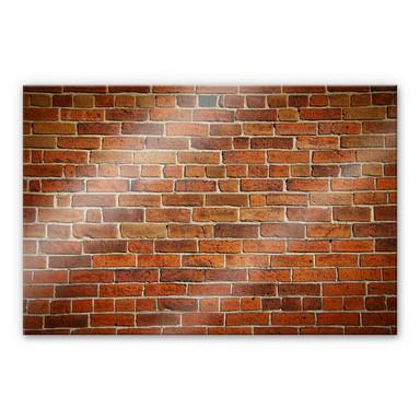 Acrylglasbild Ziegelsteinmauer