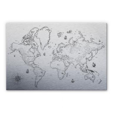 Alu Dibond-Silbereffekt - Aus vergangenen Zeiten