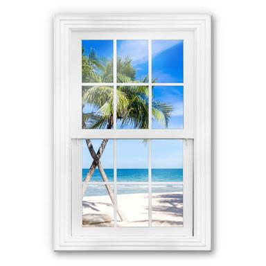 Glasbild 3D Fenster - Atlantic Ocean