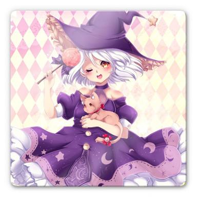 Glasbild La Doll Blanche - Little Witch