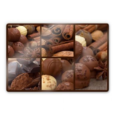 Glasbild Schokoladentraum