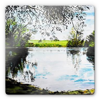 Glasbild Toetzke - Teich im Grünen