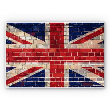 Hartschaumbild Union Jack Mauer