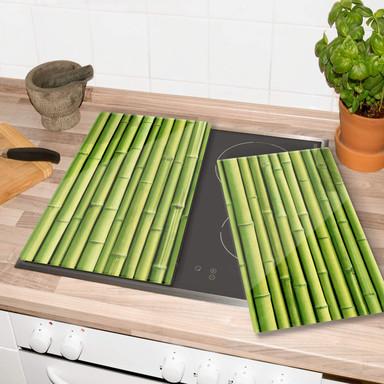 Herdabdeckplatte Bambus