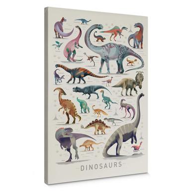 Leinwandbild Braun - Dinosaurs