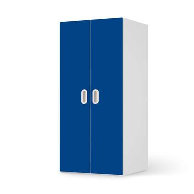 Möbelfolie IKEA Stuva / Fritids Schrank - 2 grosse Türen - Blau Dark