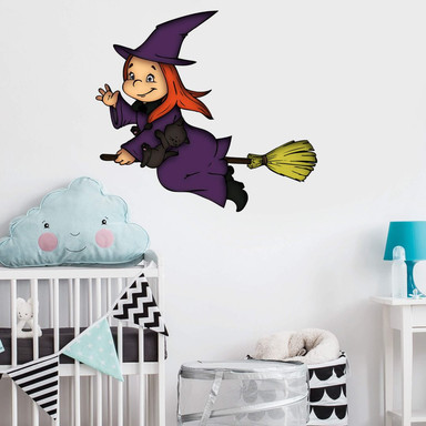 Wandsticker Halloweenhexe 2