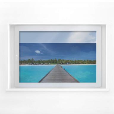 Fensterbild Karibik
