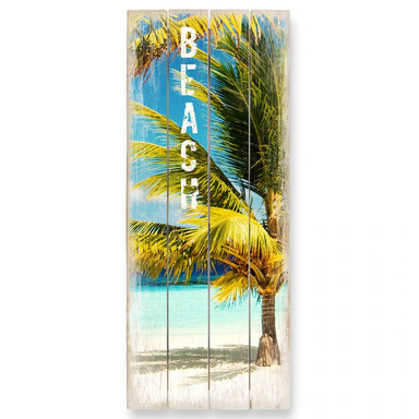 Holzbild Paradise - Beach - Panorama