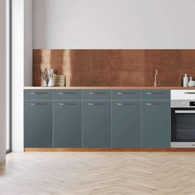 Küchenfolie - Unterschrank 200cm Breite - Blaugrau Light