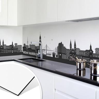 Küchenrückwand - Alu-Dibond - Mein Hamburg