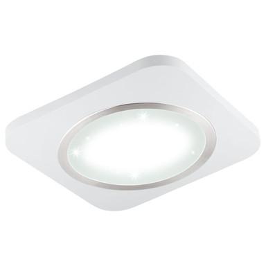 LED Aufbauleuchte Puyo in Weiss und Nickel-matt 28W 3400lm