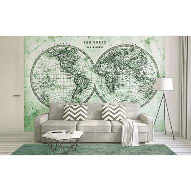 Livingwalls Fototapete Designwalls Hemispheres Weltkarte