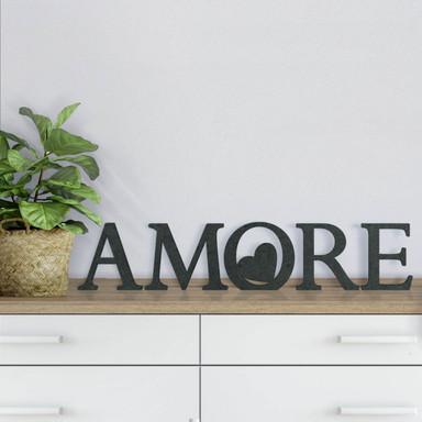 MDF-Dekobuchstaben Amore 02