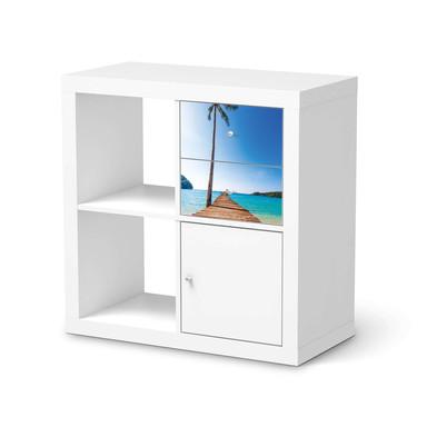 Möbelfolie IKEA Kallax Regal Schubladen - Caribbean