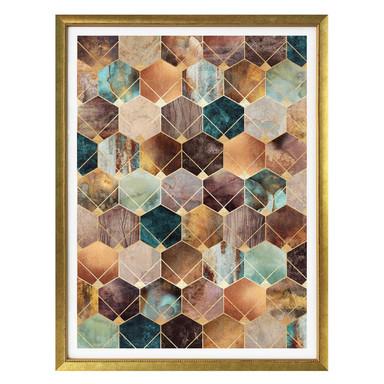 Poster Fredriksson - Hexagone: Gold und Kupfer