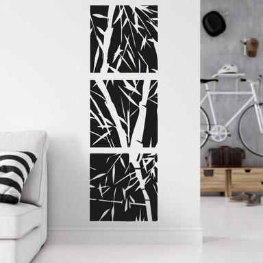 Wandtattoo Bambus Set