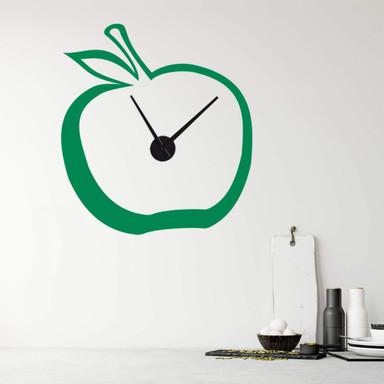Wandtattoo + Uhr Apfel-Uhr